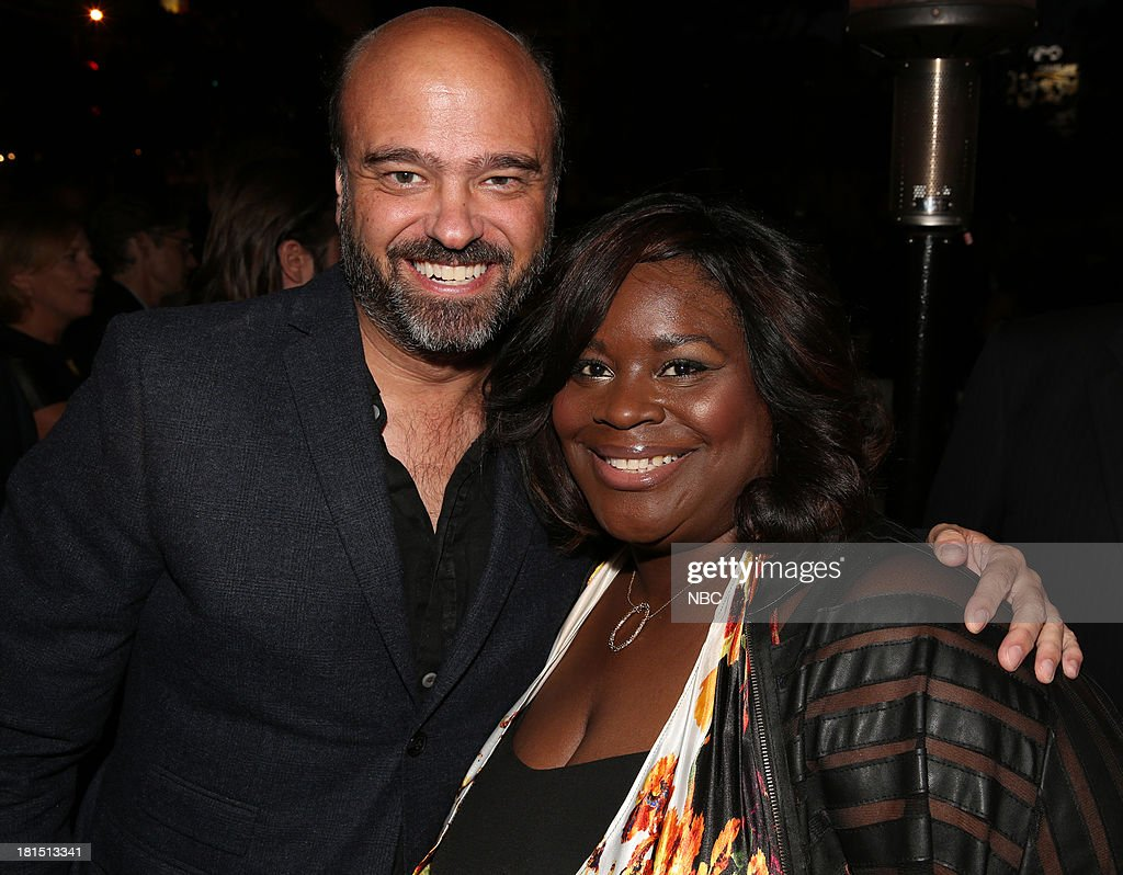 EVENTS -- 'The Emmy Party' -- Pictured: (l-r) Scott Adsit from '30 Rock', Retta from 'Parks and Recreation' at Boa Steakhouse, September 21, 2013 --