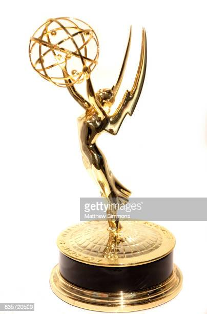 The Emmy Statuette on display at the media preview of the 11th annual Art of Television Costume Design exhibition at FIDM Museum Galleries on the...