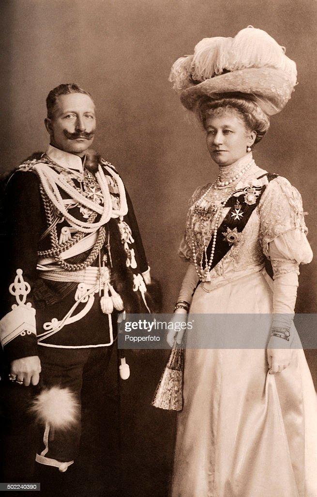 Kaiser Wilhelm II And His Wife : News Photo