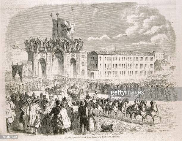 The Emperor and his wife are arriving in Triest on the 20th of november 1856 Emperor Franz Josephs and Empress Elisabeths journey to Italy...