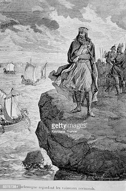The Emperor Charlemagne watching the Norman ships 814