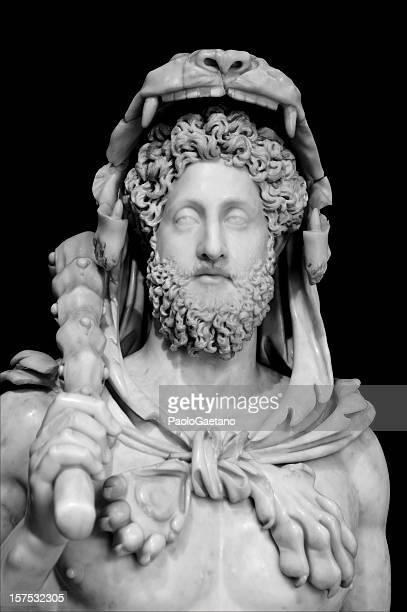 l'imperatore commodo in abito di hercules - musei capitolini foto e immagini stock