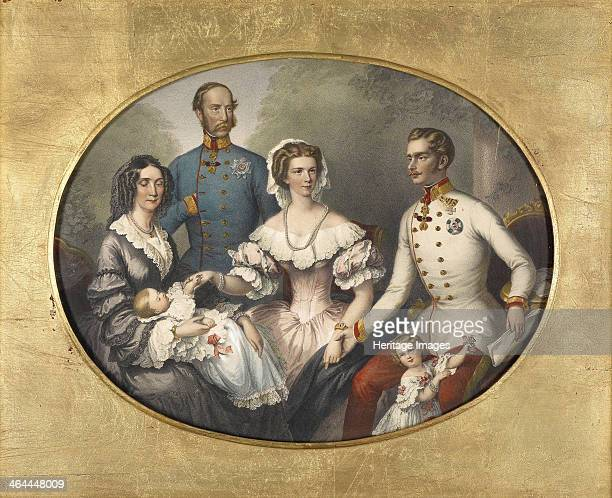 The Emperor Family of Austria 1856 From a private collection