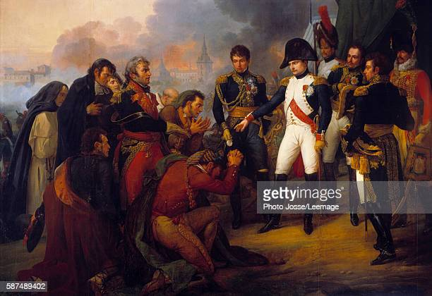 The Emperor Napoleon I before Madrid the Emperor receiving a mission of the city on 03/12/1808 Painting by Antoine Charles Horace Vernet 1810 361x 5...