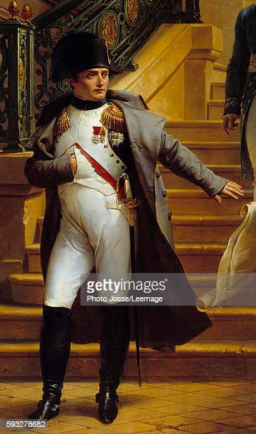 The Emperor Napoleon I refusing the plans of the architects Beaumont and Fountain in the staircase of the Palais Royal on 5 July 1807 Detail of the...