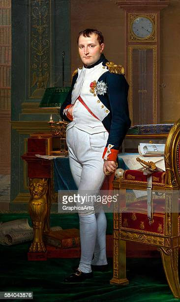 The Emperor Napoleon in His Study at the Tuileries , 1812. From the National Gallery of Art, Washington DC. Oil on canvas.