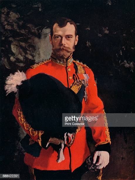 HIM The Emperor Nicholas II ColonelinChief of the Royal Scots Greys' 1902 The Emperor in full dress uniform as ColonelinChief of the 2nd Dragoons The...