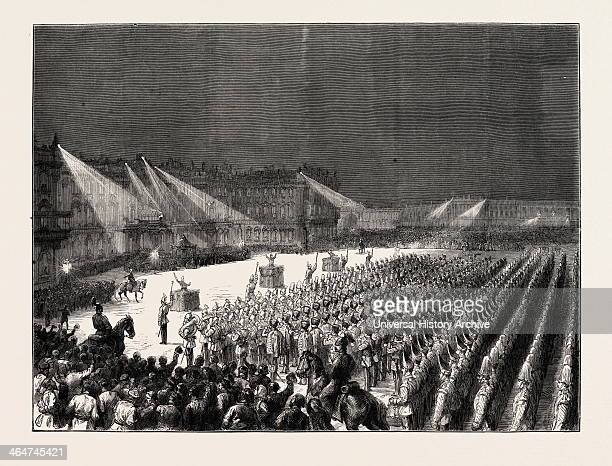 The Emperor Of Germany At St Petersburg Russia Military Concert By Electric Light Before The Winter Palace 1873
