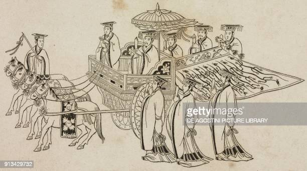 The Emperor's chariot China engraving from Chine ou Description historique geographique et litteraire de ce vaste empire d'apres des documents...