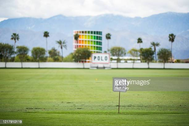The Empire Polo Club is seen on April 09, 2020 in Indio, California. The first weekend of the Coachella Valley Music and Arts Festival was originally...
