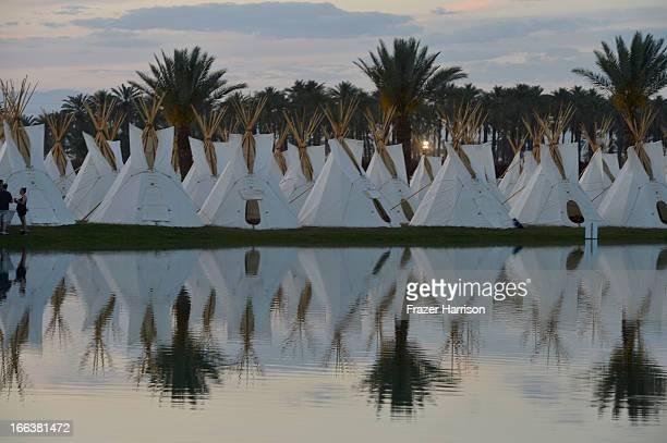 The Empire Polo Field Prepares for the 2013 Coachella Music Festival at The Empire Polo Club on April 11 2013 in Indio California