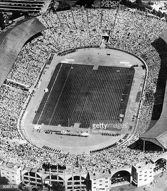 The Empire Stadium in Wembley during the opening ceremony of the 1948 Olympic Games