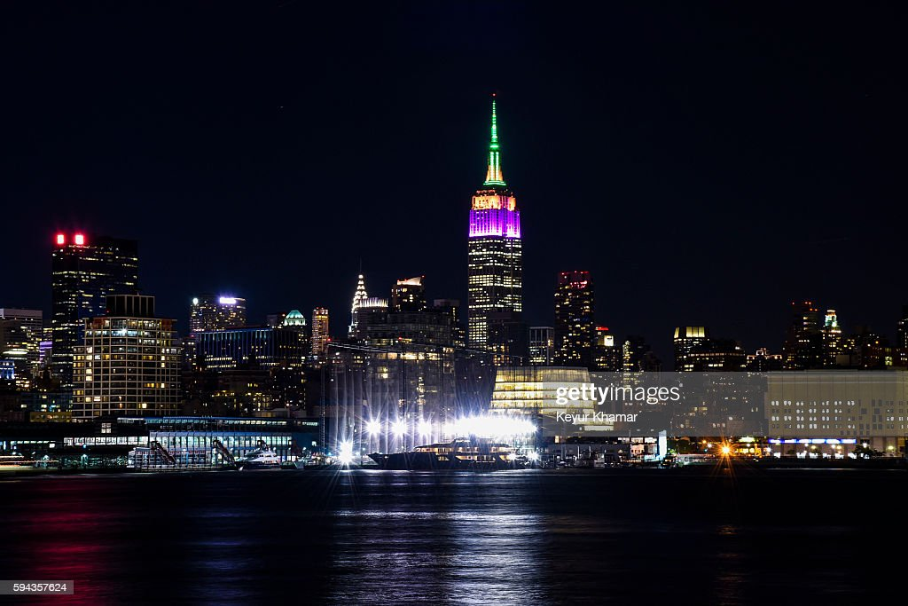 Empire State Building Lit To Celebrate FedExCup Playoffs : News Photo