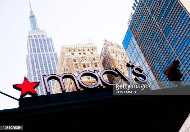 The Empire State Building towers near the Macy's store at Manhattan's Herald Square January 11 2019 in New York Macy's boasts being the world's...