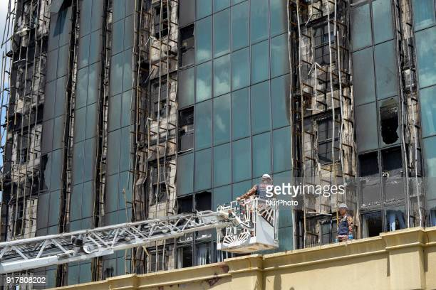 The Employees Provident Fund building has caught fire which is located on Jalan Gasing Kuala Lumpur Malaysia on February 13 2018
