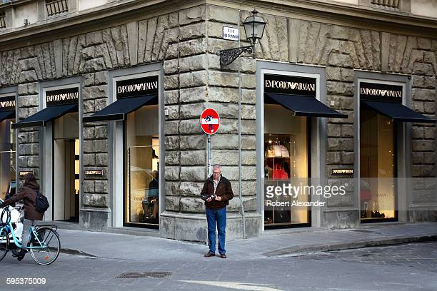The Emporio Armani store in Florence, Italy.