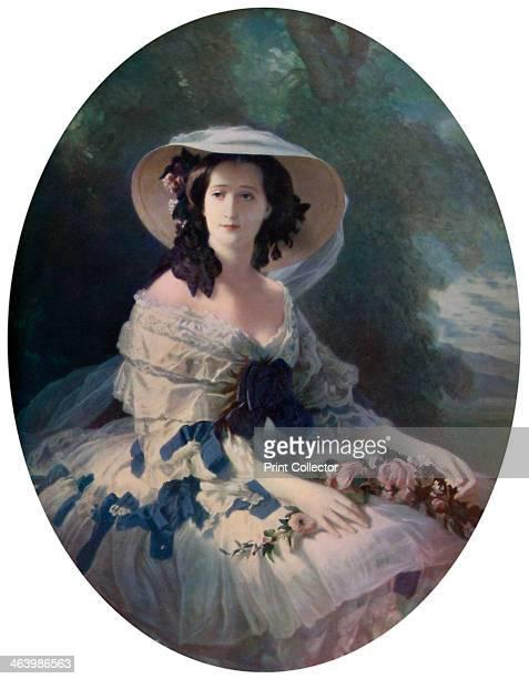 'The Empress Eugenie', 19th century, . Portrait of Empress Eugenie de Montijo , wife of Napoleon III.