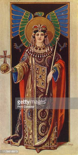 """'The Empress Irene ', 1924. From """"Costume & Fashion - The Evolution of European Dress Through the Earlier Ages"""", by Herbert Norris. [J. M. Dent and..."""
