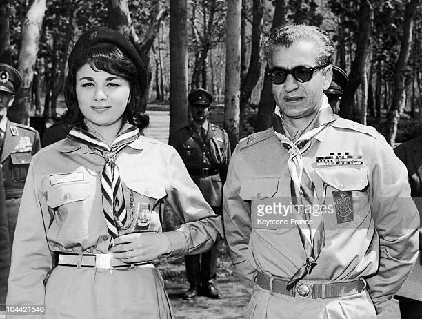 The Empress Of Iran Farah Diba And Her Husband The Shah Of Iran Opening A BoyScout Congress In 1963