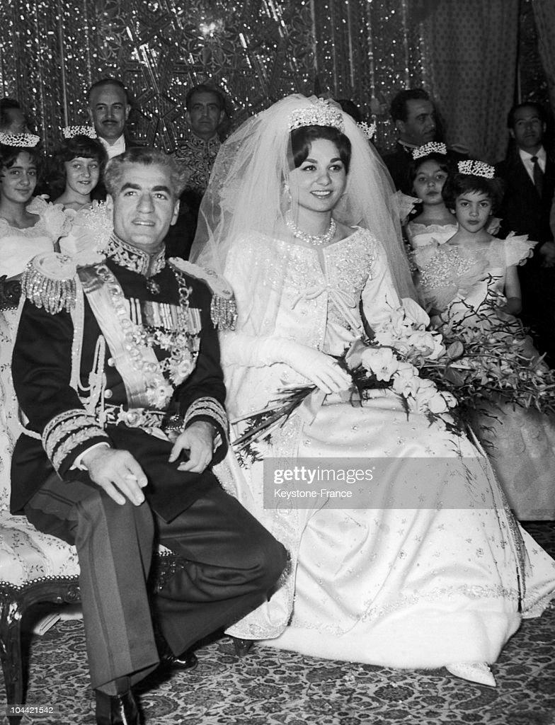 Wedding Of The Shah Of Iran And Farah Diba In 1959 : News Photo