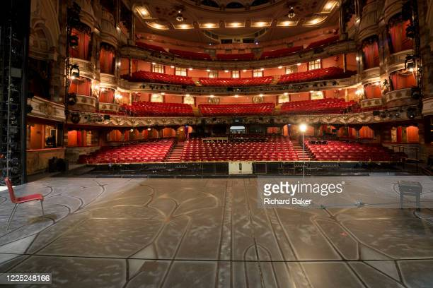 The empty auditorium of the London Coliseum, home of English National Opera ENO, remains closed for performances during the Coronavirus pandemic...