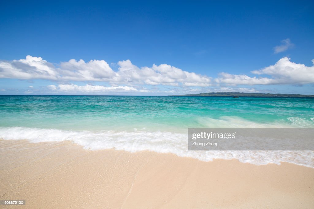 the empty beach : Foto stock
