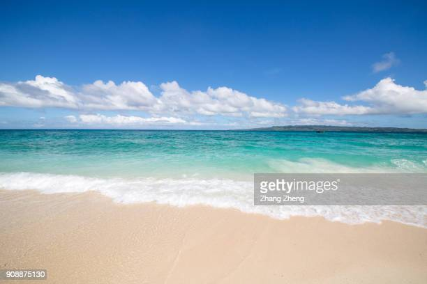 the empty beach - beach stock pictures, royalty-free photos & images