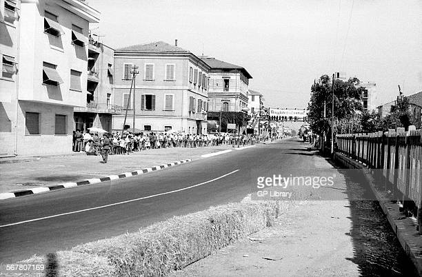 The empty circuit at the Pescara GP Italy 1957