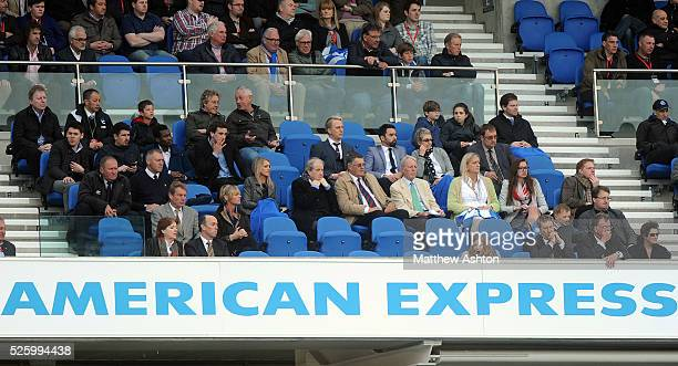 The empty directore box after Steve Morgan the owner / chairman of Wolverhampton Wanderers and Jez Moxey the CEO of Wolverhampton Wanderers left...
