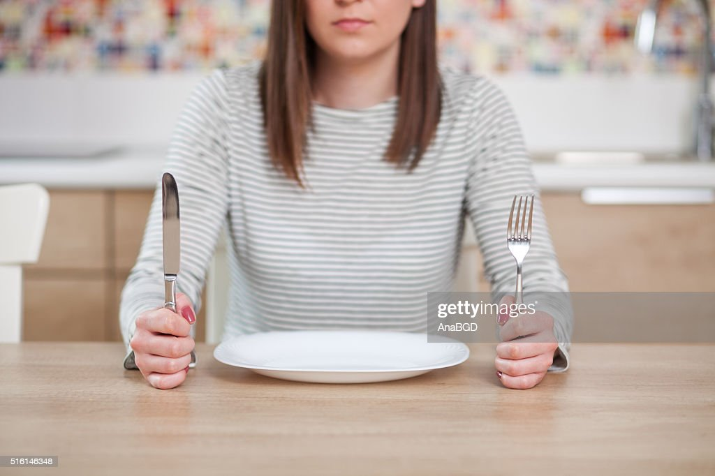 The empty plate : Stock Photo
