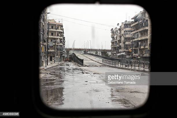 The empty streets of Aleppo Syria's largest city and center of the latest clashes between the Free Syrian Army and the forces loyal to Bashar Al...