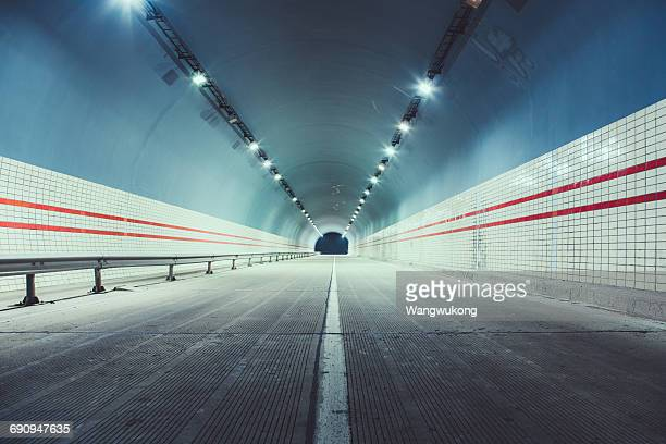 the empty tunnel - empty road stock pictures, royalty-free photos & images