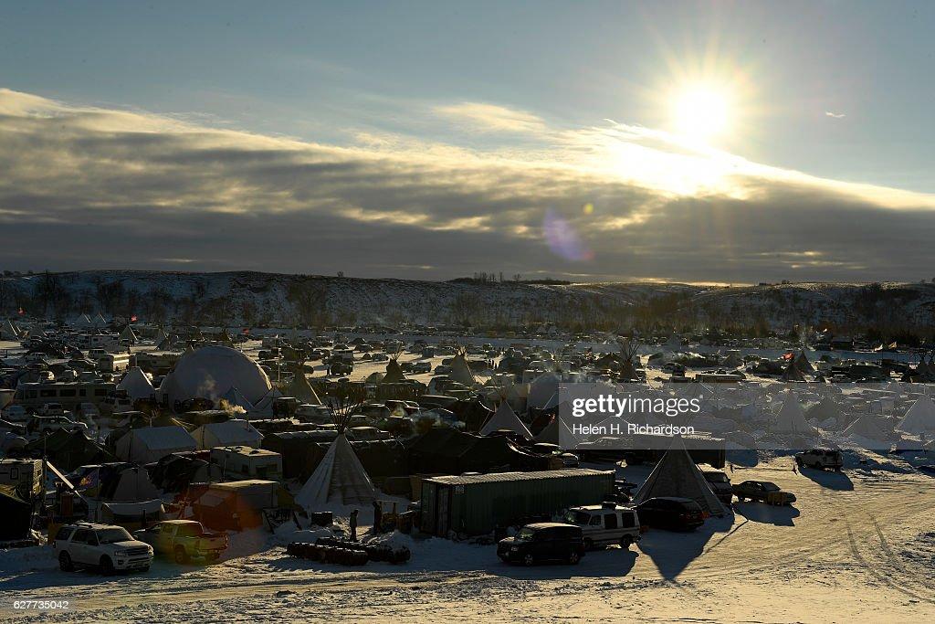 Standing Rock encampment near Cannon Ball, North Dakota : News Photo