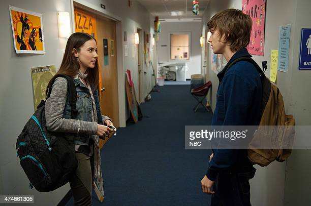 PARENTHOOD The Enchanting Mr Knight Episode 516 Pictured Lyndon Smith as Natalie Miles Heizer as Drew Holt