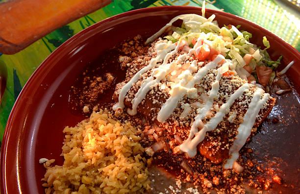 The Enchiladas Tapatias From Las Potrancas Mexican Restaurant 6610 Wadsworth Blvd In Arvada
