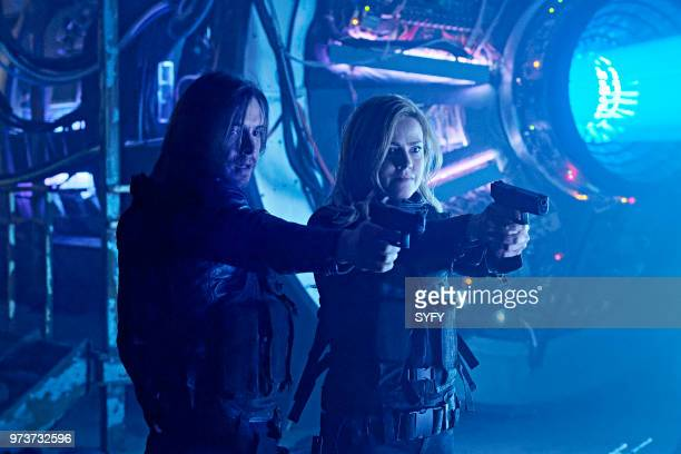 12 MONKEYS 'The End' Episode 401 Pictured Aaron Stanford as James Cole Amanda Schull as Cassandra Railly