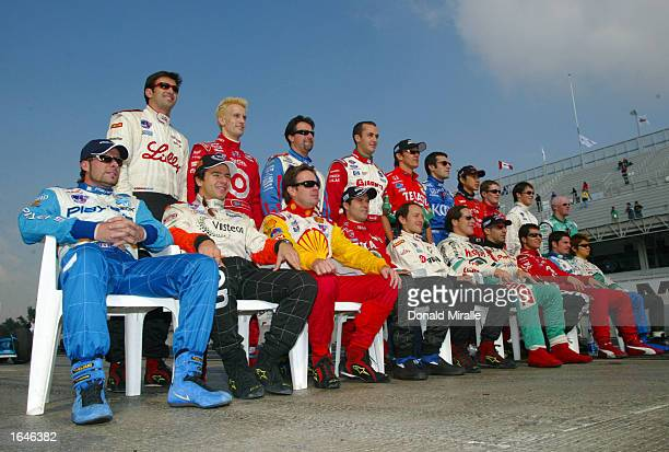 The end of season driver photo during practice for the Gran Premio GiganteTelmex round 19 of the CART Fed Ex Championship Series on November 16 2002...