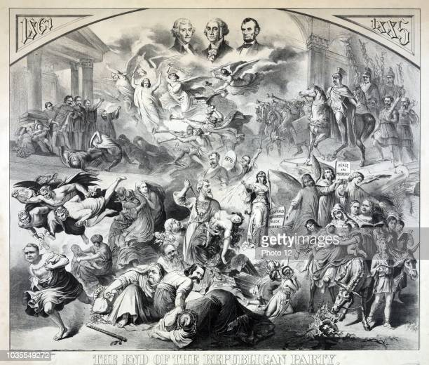 The end of the republican party After The Destruction of Jerusalem by Kaulbach' After a large painting by Wilhelm von Kaulbach showing the...