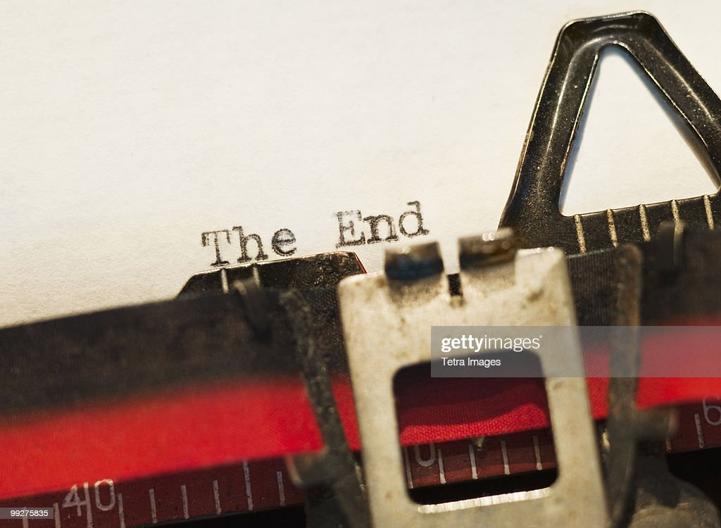 The end of the story : Stock Photo