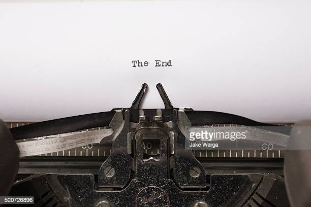 The End, typewriter