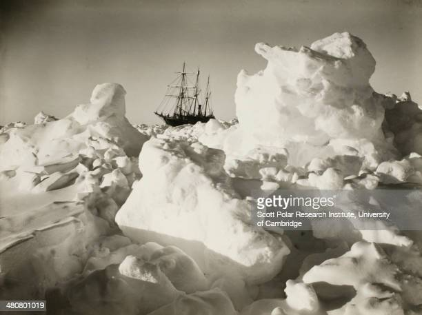 The 'Endurance' among great blocks of pressure ice during the Imperial TransAntarctic Expedition 191417 led by Ernest Shackleton
