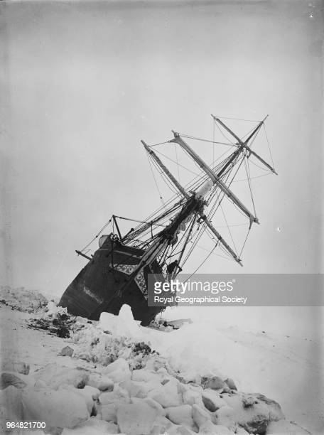 The 'Endurance' keeling over Antarctica 1914 Imperial TransAntarctic Expedition 19141916