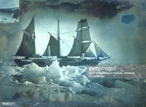 The 'Endurance' under full sail during the Imperial TransAntarctic Expedition 191417 led by Ernest Shackleton
