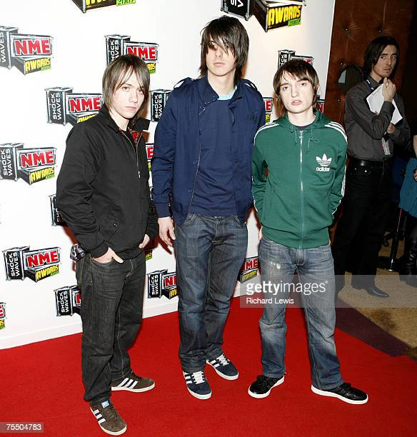 The Enemy arrive at the Shockwaves NME Awards 2007 at the Hammersmith Palais in London United Kingdom