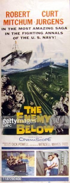 The Enemy Below poster Robert Mitchum Curd Jurgens 1957