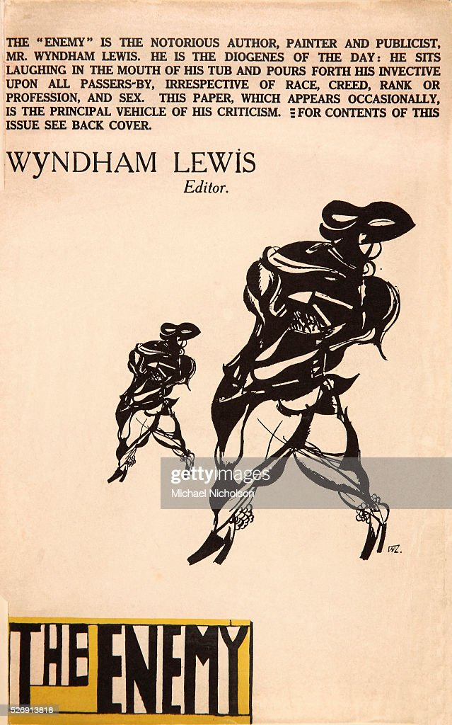 Cover of The Enemy by Wyndham Lewis : News Photo