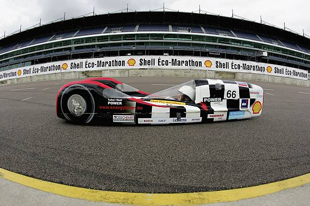 The Energy Team Hohnet car in action during the Shell Eco Marathon at Rockingham Motor Speedway