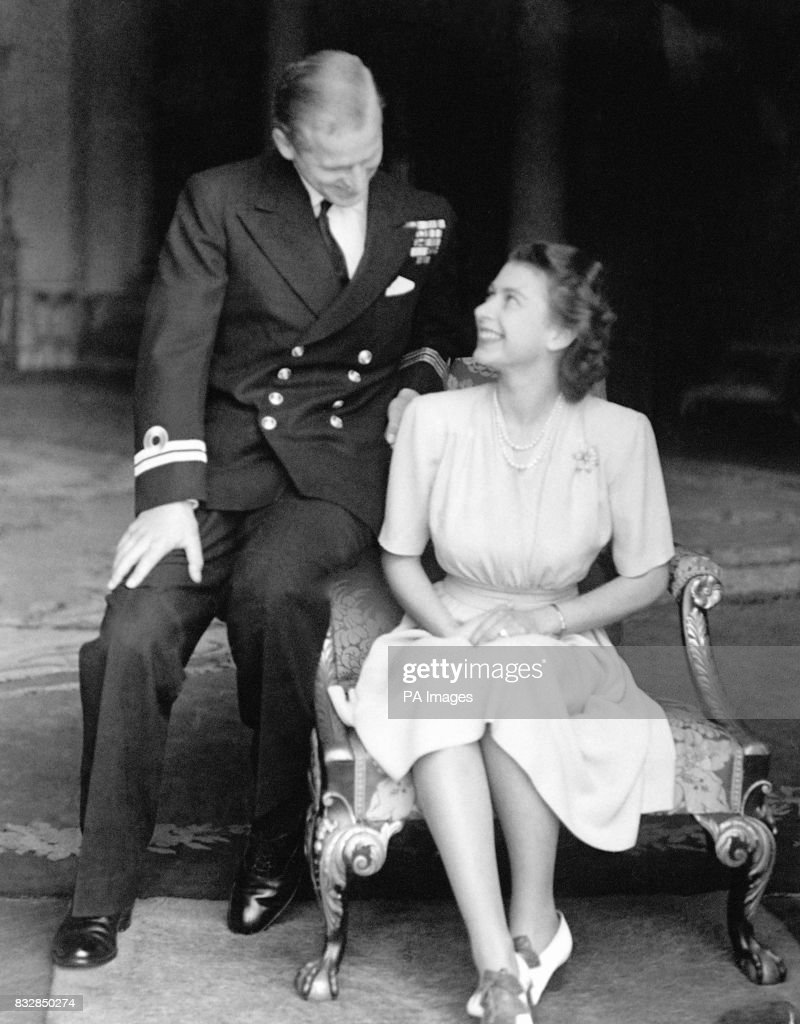 Royalty - Engagement of Princess Elizabeth and Lieut. Philip Mountbatten - London : News Photo