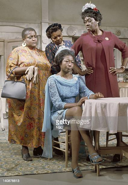 SON The Engagement/The Member of the Wedding Episode 9 Aired 11/9/73 Pictured Esther Sutherland as Aunt Minnie Dorothy Meyer as Aunt Flossie LaWanda...