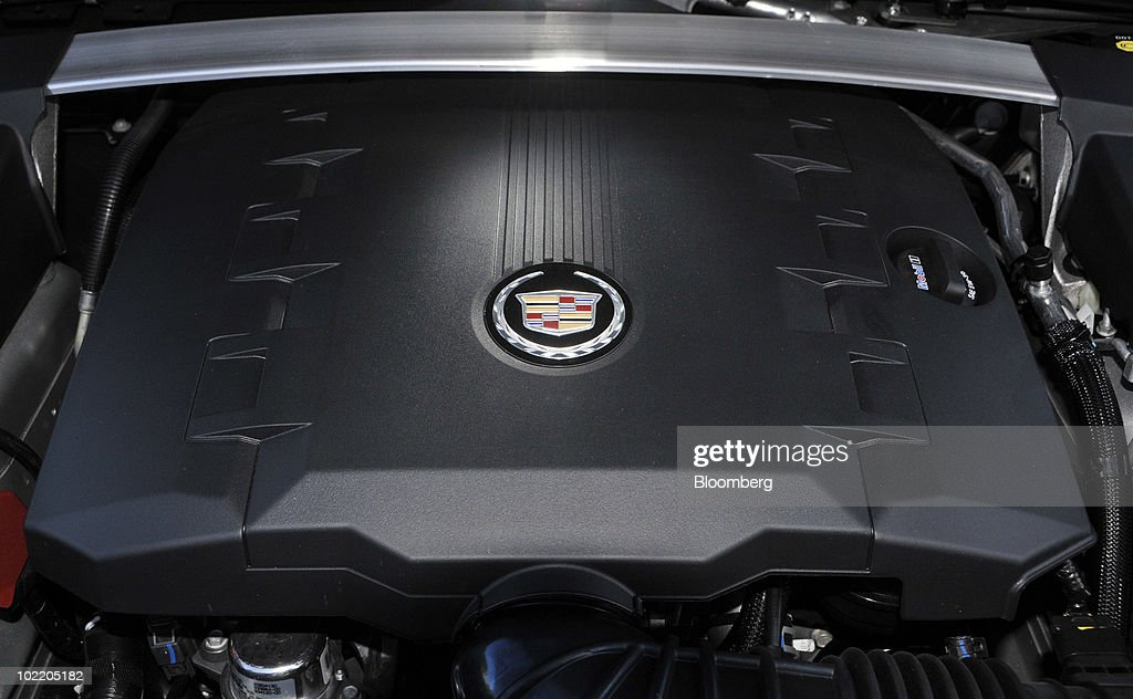 The engine from General Motors Co.'s 2011 Cadillac CTS Coupe is seen during a media preview in Yountville, California, U.S., on June 15, 2010. GM is making a push to revive the Cadillac brand which has fading appeal, aging customers and trouble persuading buyers it's worth paying a premium. Photographer: Mark Elias/Bloomberg via Getty Images